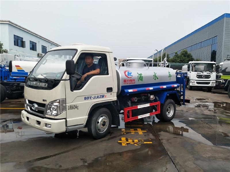 国五福田时代2.3吨蓝牌绿化喷洒车
